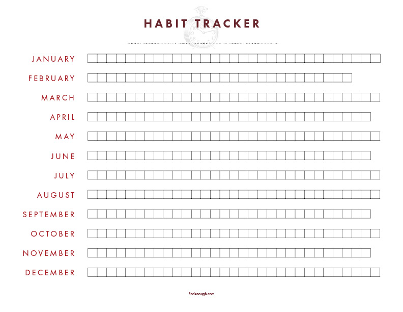 picture relating to Free Habit Tracker Printable identify Absolutely free Printable Pattern Tracker